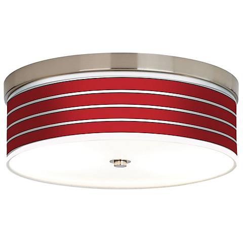 Bold Red Stripes Giclee Energy Efficient Ceiling Light