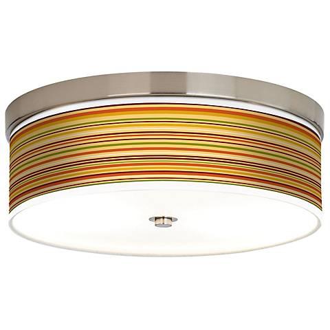 Stacy Garcia Harvest Stripe Giclee Energy Efficient Ceiling Light