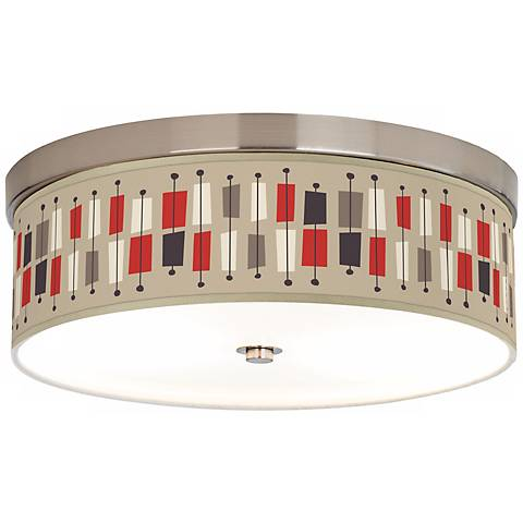 "Bounce 14"" Wide Giclee Energy Efficient Ceiling Light"