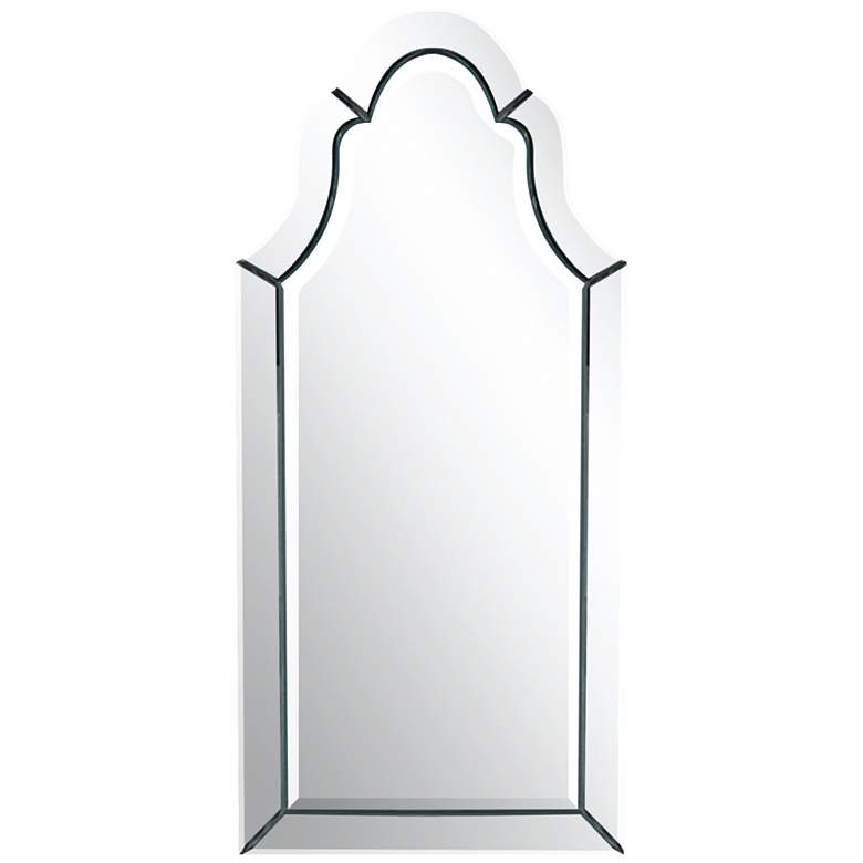 """Uttermost Hovan Polished 21"""" x 44"""" Arched Wall Mirror"""
