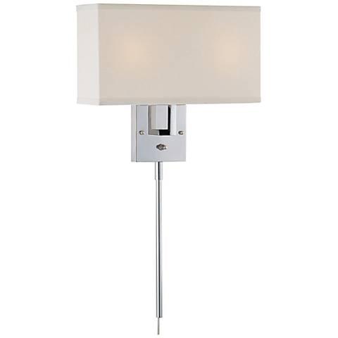 Lite Source Rimini Off-White and Chrome Plug-In Wall Lamp