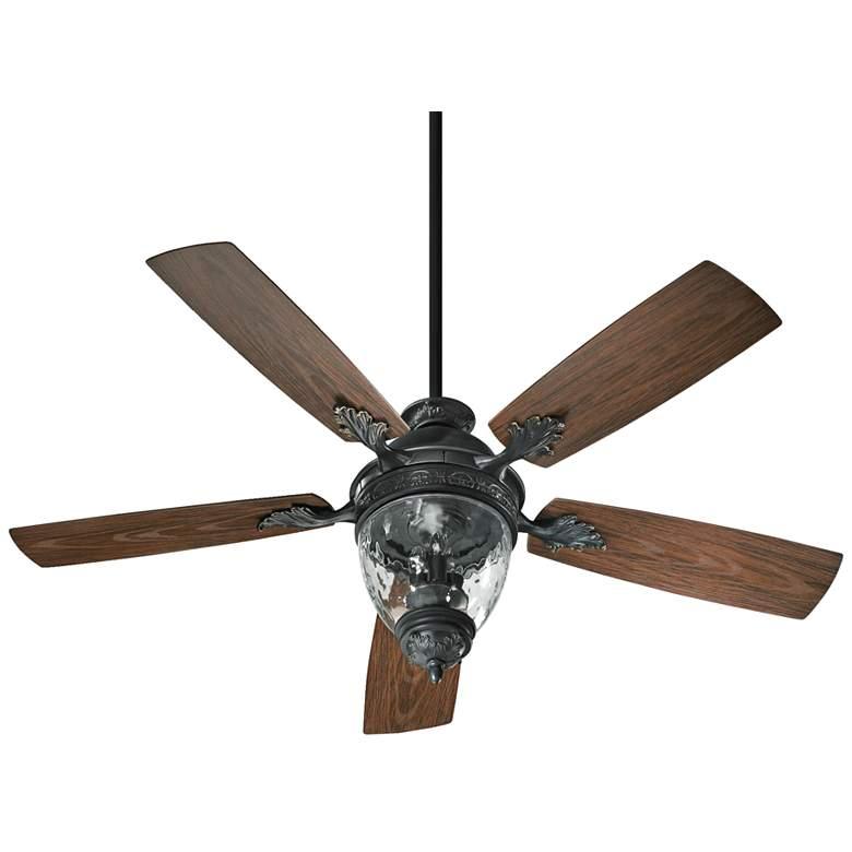 """52"""" Quorum Georgia Old World Patio Ceiling Fan"""