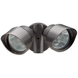 Bronze Designer Twin Head Halogen Outdoor Flood Wall Light 9e3c438562e7