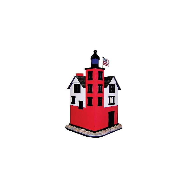 "Historic Lighthouse 17"" High Garden Bird House"