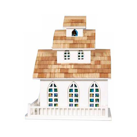 Church and Steeple Bird House
