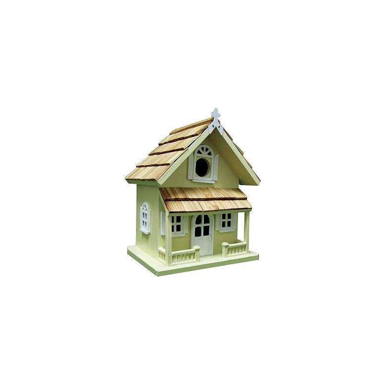 Yellow Cottage Bird House