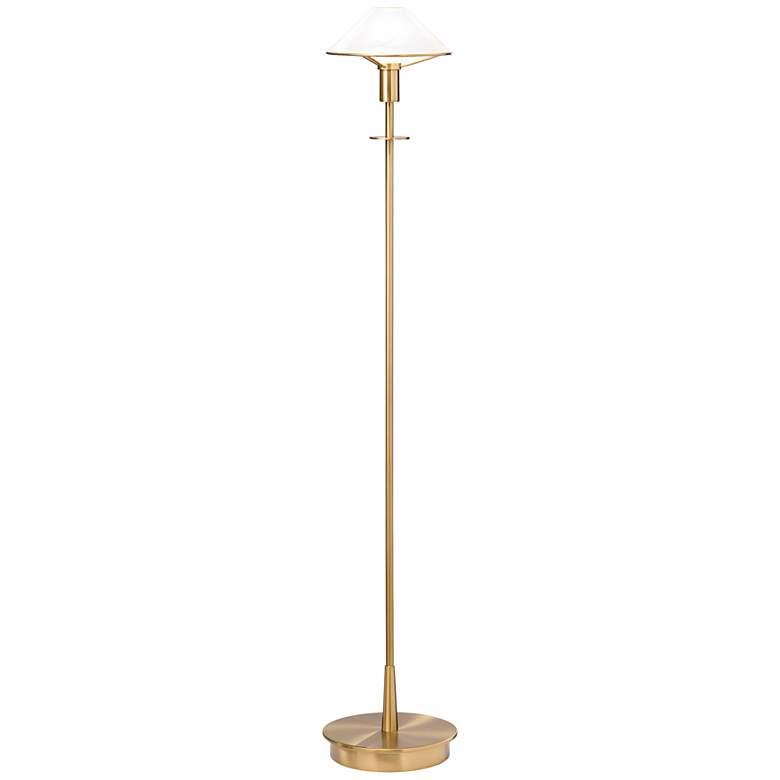 Holtkoetter Antique Brass Alabaster White Floor Lamp