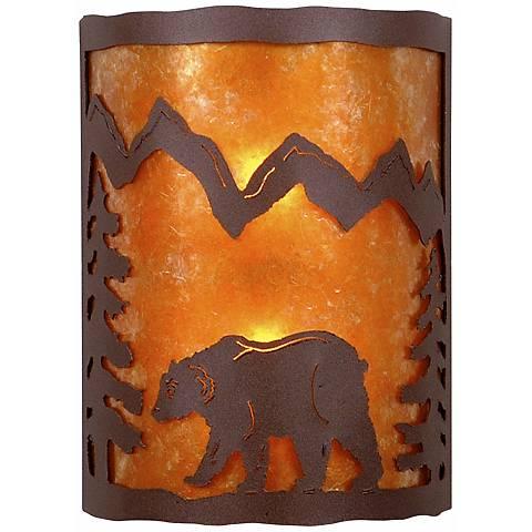 """Cascade Collection Bear 12"""" High Wall Sconce"""