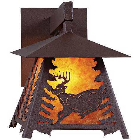 """Smoky Mountain Deer 12"""" High Outdoor Wall Light"""