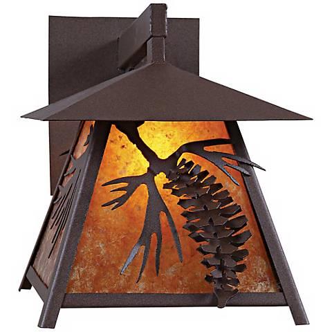 """Smoky Mountain 3D Cone 14"""" High Outdoor Wall Light"""