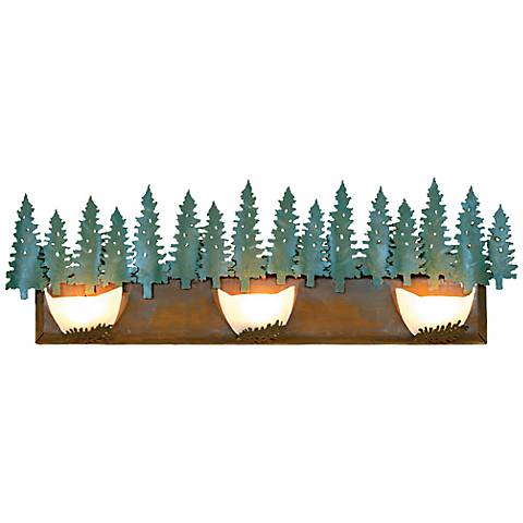 "Avalanche Collection Pine 36"" Wide Bathroom Light Fixture"