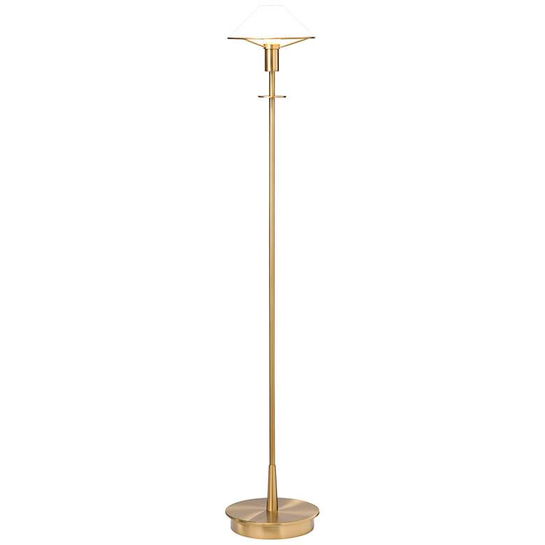 Holtkoetter Antique Brass True White Floor Lamp