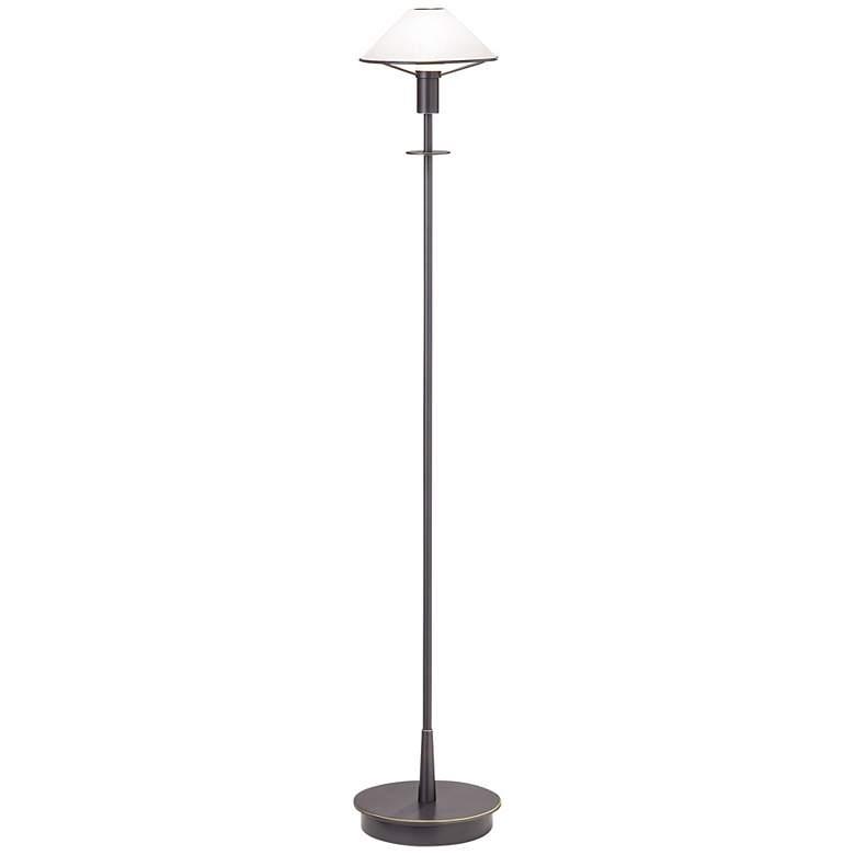 Holtkoetter Old Bronze Satin White Glass Floor Lamp