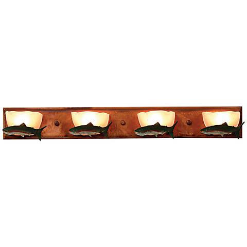 "Logen Collection Trout 33"" Wide Bathroom Light Fixture"
