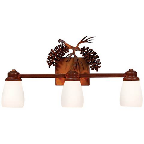 "Parkshire Collection 3D Cone 22"" Wide Bathroom Light Fixture"