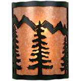 "Cascade Collection Spruce Tree 12"" High Wall Sconce"