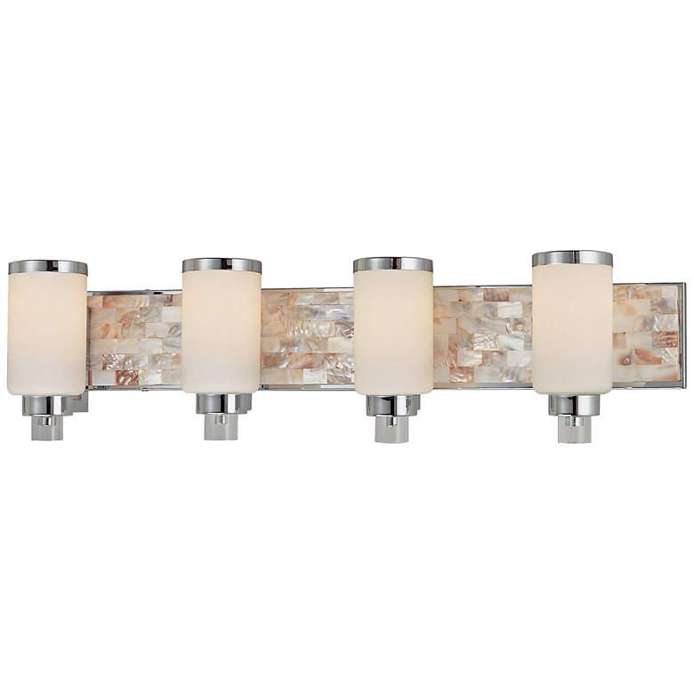 "Cashelmara Collection 34"" Wide Chrome 4-Light Bath Light"