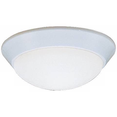 "Kichler Etched Glass Dome White 10"" Wide Ceiling Light"