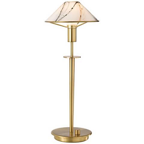 Holtkoetter Antique Brass Marble Glass Desk Lamp