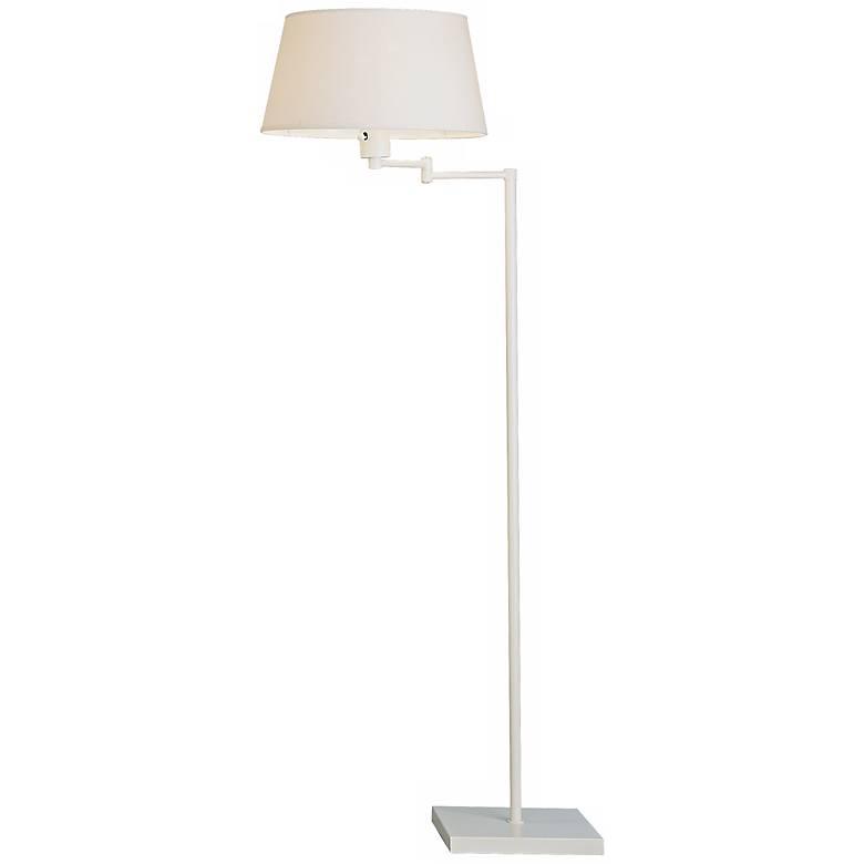 Robert Abbey Real Simple White Swing Arm Floor Lamp