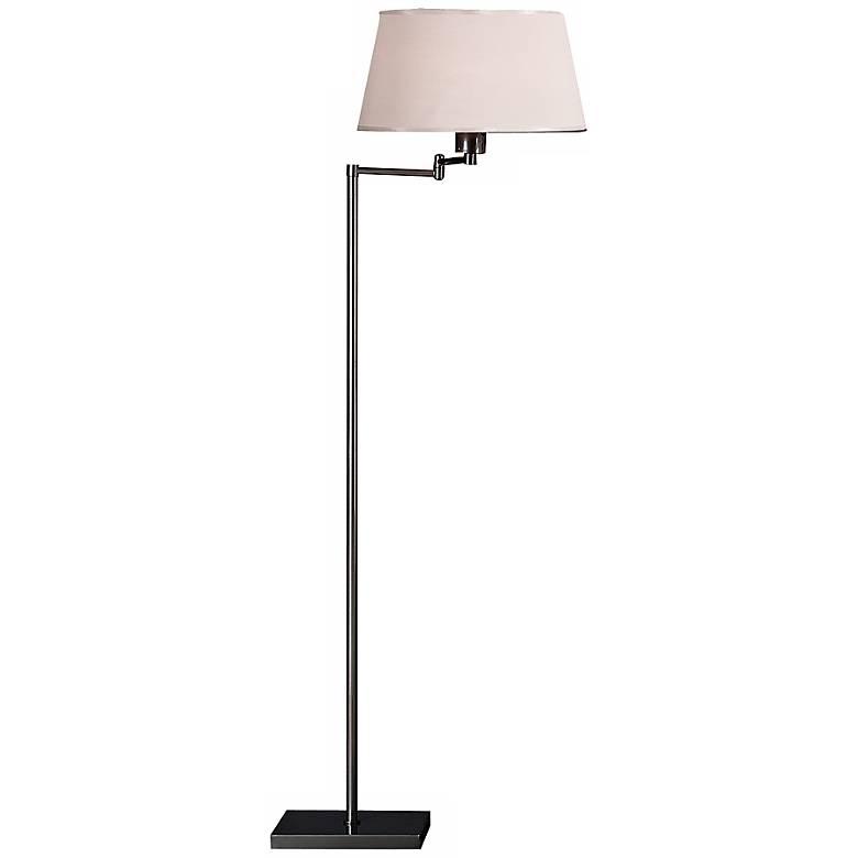 Robert Abbey Real Simple Gunmetal Swing Arm Floor Lamp
