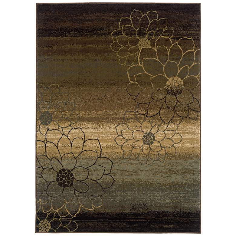 """Floral Silhouette 5'3""""x7'6"""" Area Rug"""