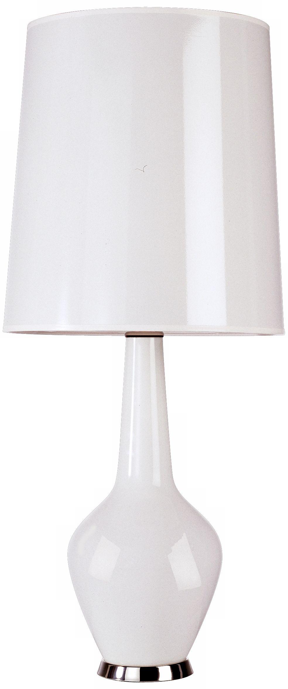 Captivating Jonathan Adler Capri Tall White Glass Table Lamp