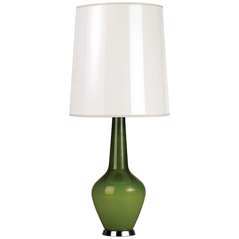 Jonathan Adler Capri Tall Green Glass Table Lamp