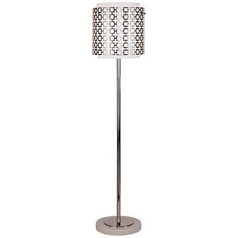 Robert Abbey Parker Polished Nickel Finish Floor Lamp
