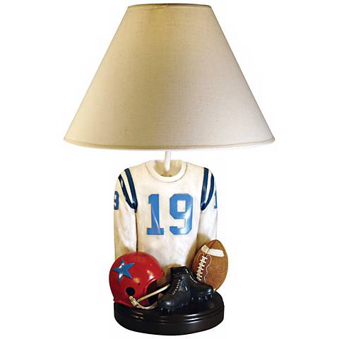 Football 20 high jersey accent table lamp j2567 lamps plus football 20 high jersey accent table lamp aloadofball Choice Image