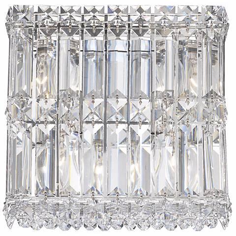 "Schonbek Quantum Spectra Crystal 9"" High Wall Sconce"