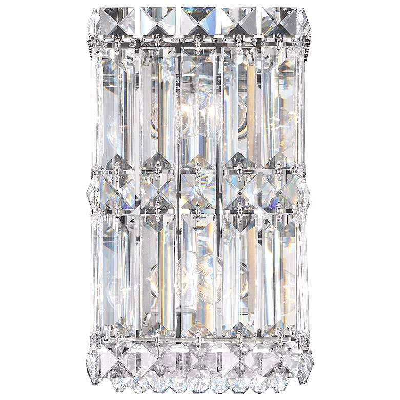 """Schonbek Quantum Collection 9"""" High Crystal Wall Sconce"""