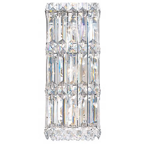"Schonbek Quantum Collection 13"" High Crystal Wall Sconce"