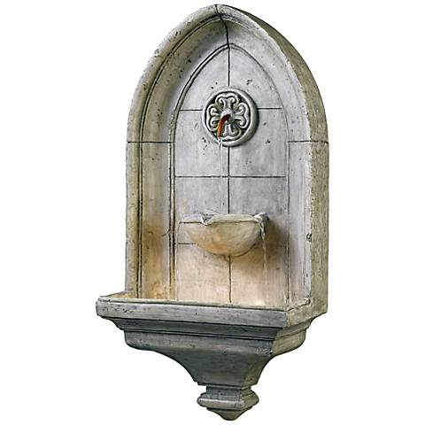"Kenroy Home Canterbury Lighted 35"" High Wall Fountain"