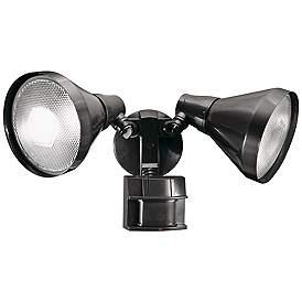 Two Light Bronze 180 Degree Motion Sensor Security