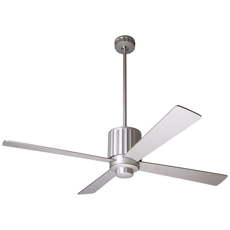 """52"""" Modern Fan Flute Textured Nickel Ceiling Fan"""