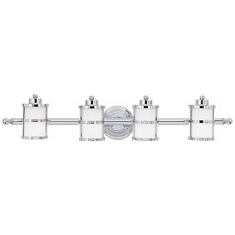 "Tranquil Bay Collection 34"" Wide Bathroom Light Fixture"