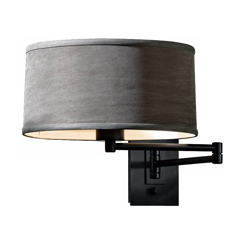 Black Simple Iron Swing Arm Wall Lamp
