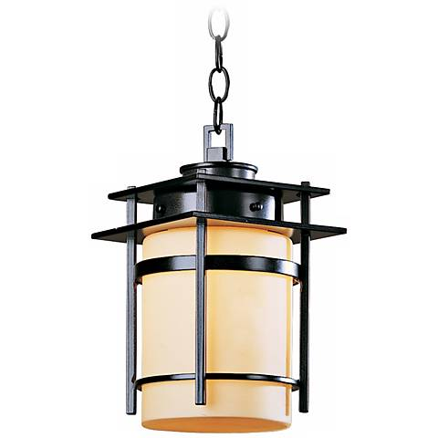 "Hubbardton Forge Banded 12 3/4"" High Outdoor Hanging Light"