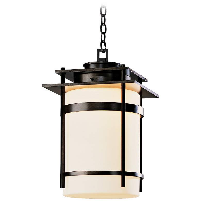 """Hubbardton Forge Banded 22"""" High Outdoor Hanging Light"""