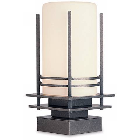 "Hubbardton Forge Double Banded 13"" High Outdoor Pier Light"