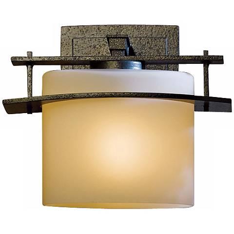 "Hubbardton Forge Arc Ellipse 7 1/2"" High Outdoor Wall Light"