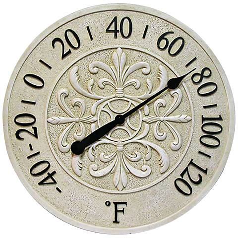 Blanc Fleur Wall Thermometer