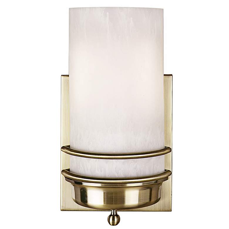 J6027 - Antique Brass Metal Double Band Wall Sconce