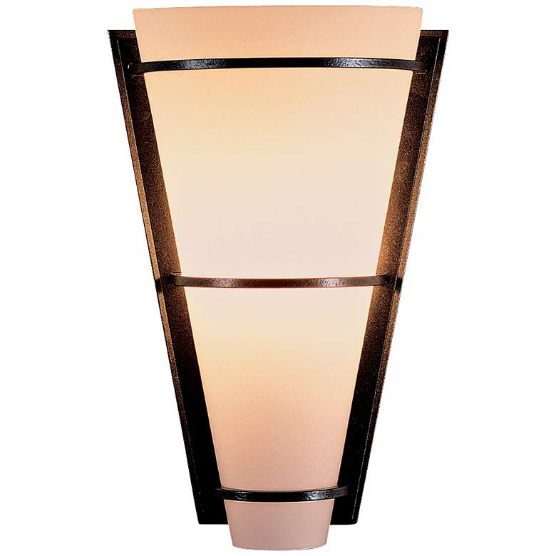 "Suspended Half Cone Opal Glass 10"" High Wall Sconce"