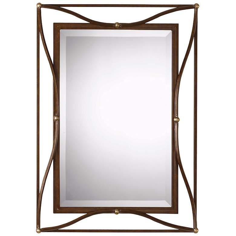 "Uttermost Thierry Bronze 28"" x 38"" Rectangular Wall Mirror"