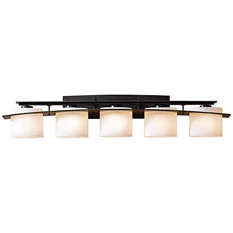 hubbardton forge bathroom lighting hubbardton forge glass 42 quot wide bath light j6405 18781