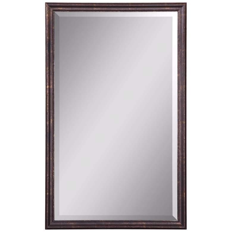"Uttermost Renzo Bronze 20"" x 32"" Vanity Wall Mirror"