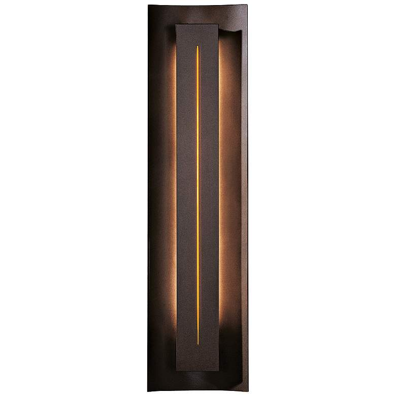 Gallery Collection Amber Glass Energy Efficient Wall Sconce