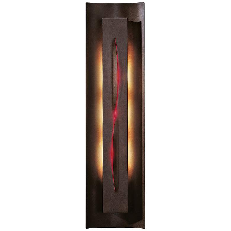 """Gallery Collection Red Glass 27 1/4"""" High Wall Sconce"""